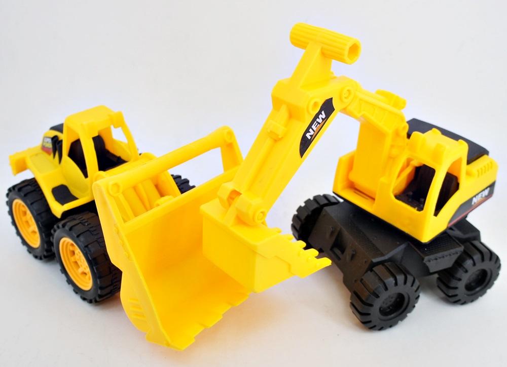 Строительные машинки для детей большие и маленькие оптом на сайте Albatoy картинка