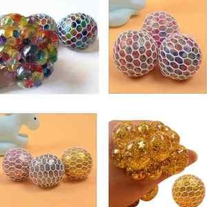 Лизун-мяч-давилка в сетке, 12шт., цветной, арт.46616 фото