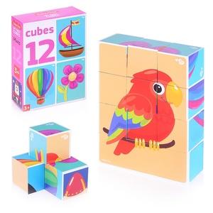 """Кубики """"Микс"""" (без обклейки) 12 шт Baby Toys, арт.03539 фото"""