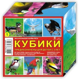 """Кубики (4 куб) """"Птички"""", арт.01347 фото"""
