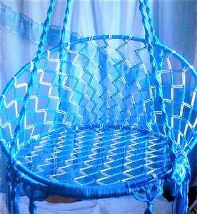 гамак-качеля синяя фото