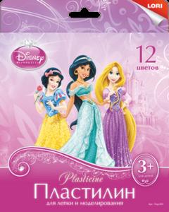 "Пластилин Disney ""Принцессы"" 12 цветов, 20 гр., с европодвесом, арт.Плд-003 фото"
