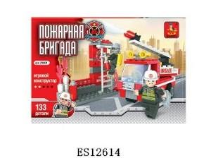 Конструктор Ausini - Пожарная бригада 133 дет.в кор, арт.35448 фото