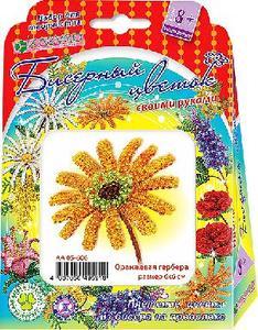 Набор для изготовления цветка из бисера «Оранжевая гербера» арт. АА 05-606 фото