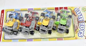 Машина  инерционная - мини 4шт. гоночный Картинг, арт.46726 фото