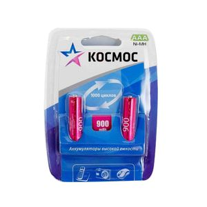 Аккумулятор КОСМОС R03 NI-MH 900 мАч арт.КОСR03NIMH(900MAH) фото