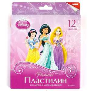"Пластилин Disney ""Принцессы"" 12 цветов, по 15 гр., с европодвесом, арт.Плд-019 фото"
