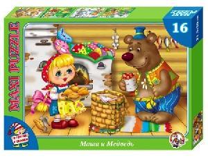 Маша и Медведь Пазл 16 эл. МАКСИ В гостях у сказки. арт.01037 фото
