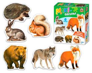 """MAXI-пазлы """"Лесные животные"""" в кор., арт.02544 фото"""