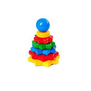 """Пирамида """"Цветик"""", 21 см (в сетки 8 дет) арт 9224 фото"""
