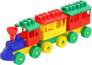 Конструктор-Паровоз с двумя вагонами арт.2044 (кор/30) фото