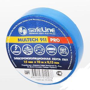 Изолента Safeline 15/10 синий арт.9359 фото