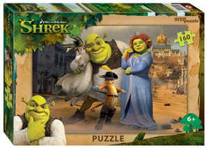 "Мозаика ""puzzle"" 160 ""Shrek"" (DreamWorks, Мульти), арт.94100 фото"