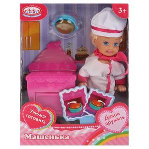 Кукла, ТМ Карапуз, Машенька 12см, в наборе кухонная плита, костюм повара, аксесс.арт.MARY019X-RU фото