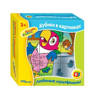 """Кубики 9 шт. """"Любимые мультфильмы-3"""" арт.87311 фото"""