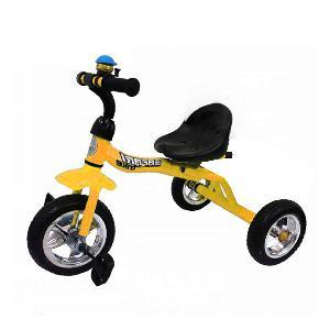 """Велосипед Safari 3-колесный, пвх колёса 10""""/8"""" жёлтый арт.GT9471 фото"""