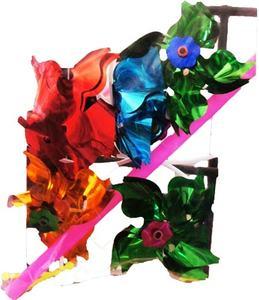 Вертушка на палочке, цвет. в ас-те, в пак. 41*20см в кор.4*102шт арт.B531781 фото