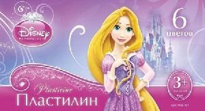 "Пластилин Disney, ""Принцессы""6 цветов, 20 гр., с европодвесом, арт.Плд-001 фото"