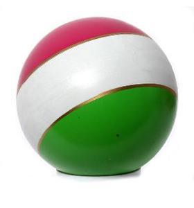 Мяч 100мм лакир с-20ЛП (полоса) арт.с-20ЛП (1/50) фото