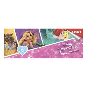 "Пластилин Disney ""Принцессы"" 6 цветов, по 15 гр., без европодвеса, арт.Плд-026 фото"