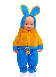Кукла Мальчик-Зайчик полз 40 см арт.ПЛЗ40-8 фото