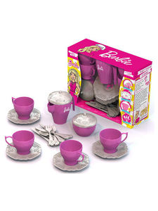 """Подарочный набор дет.посуды """"Чайный сервиз БАРБИ"""" (24 предмета в кор. с окошком), арт.644 фото"""