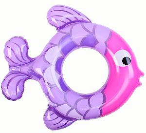"""Надувной круг 77х76см """"Рыбки"""" 2 вида, от 3 до 6 лет АРТ.59222 (Кор36) фото"""