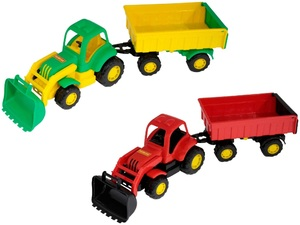 """Крепыш"", трактор с прицепом №1 и ковшом арт. 44556 (кор 6) фото"