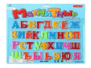 Набор букв на магнитах (русский алфавит) на карт, арт.44460 фото