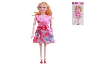 """Кукла 11,5"""" литая с гнущимися руками в коротком платье в пак, арт.47230 фото"""