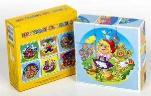 """Кубики """"Цветные сказки-4"""" (без обклейки) 9 шт., арт.00682 фото"""