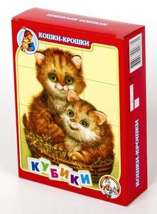 """Кубики """"Кошки-крошки"""" без обклейки 12шт. арт. 00687 фото"""