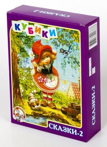 "Кубики ""Сказки-2"" без обклейки 12шт. арт. 00688 фото"