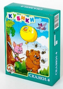 "Кубики ""Сказки-4"" без обклейки 12шт. арт. 00690 фото"