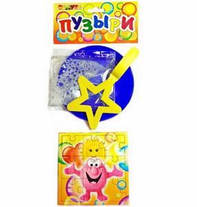 """Мыльные пузыри """"Большие"""" """"ПАЗЛ"""" (звездочка) в пакете, арт.5548 фото"""