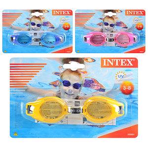 """Очки для плавания """"Junior"""" от 3 до 8 лет, 3 цвета арт.55601 (кор .12) фото"""
