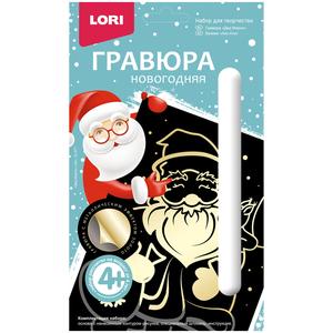 """Гравюра малая с эффектом золота """"Дед Мороз"""", арт.Гр-577 фото"""