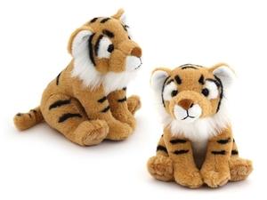 "Мягкая игрушка ""Wiki Zoo"" Тигр с обучающим чипом в 5 нажатий + мини энциклопедия 22 см арт.7583 фото"