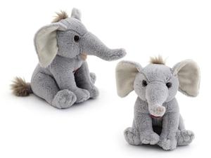 """Мягкая игрушка мини """"Wiki Zoo"""" Слоник с обуч.чипом в 5 нажатий в/п 16 см арт.9937/WZ фото"""
