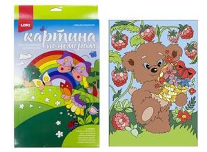 """Картина по номерам для малышей """"Мишка-сладкоежка"""", арт.Ркн-035 фото"""