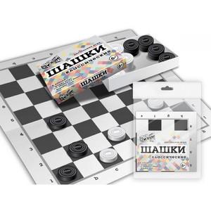 Шашки классические (коробка крышка-дно, поле, шашки), арт.07101 фото