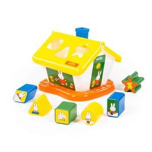 """Логический домик """"Миффи"""" с 6 кубиками №1, арт.64264 фото"""