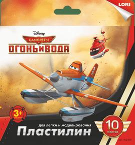 "Пластилин Disney, ""Самолёты"" 10цв., 20 гр., с европодвесом, арт.Плд-006 фото"