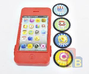 Телефон -дископлюй цветной в пак., арт.43101 фото