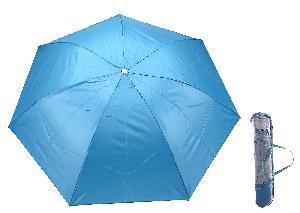 Зонт механический однотонный, R=46см, цвет голубой арт.653096 фото