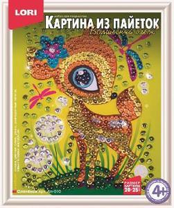 "Картина из пайеток ""Оленёнок"" арт. Ап-010 фото"