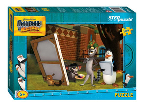 "Мозаика ""puzzle"" 104 ""Пингвины из Мадагаскара"" (Dreamworks) арт.82140 фото"