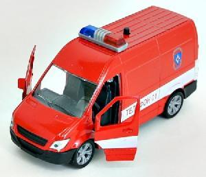 "маш.""GERMANY PANEL VAN"" пожарная охрана звук, свет. 1:36 арт.49551 фото"