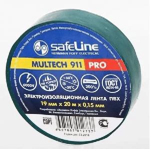 Изолента  Safeline 15/20  зеленый, арт.9364 фото