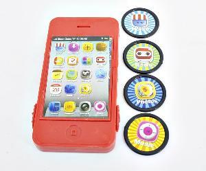 Телефон-дископлюй цветной в пак., арт.46619 фото